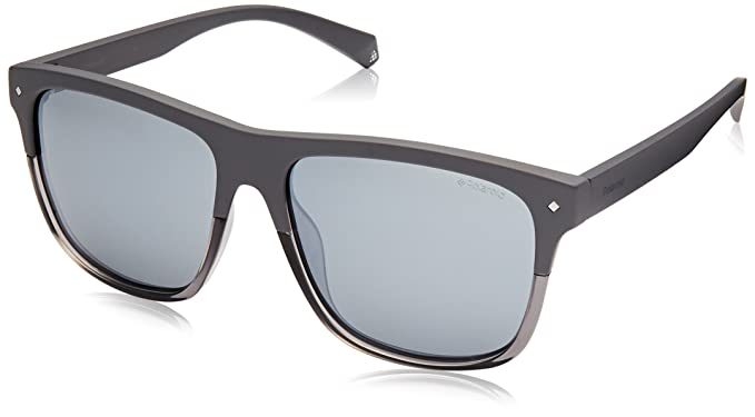 1433b6e1b Image Unavailable. Image not available for. Colour: Polaroid Mirrored  Wayfarer Unisex Sunglasses - (PLD 6041/S KB7 56EX|56