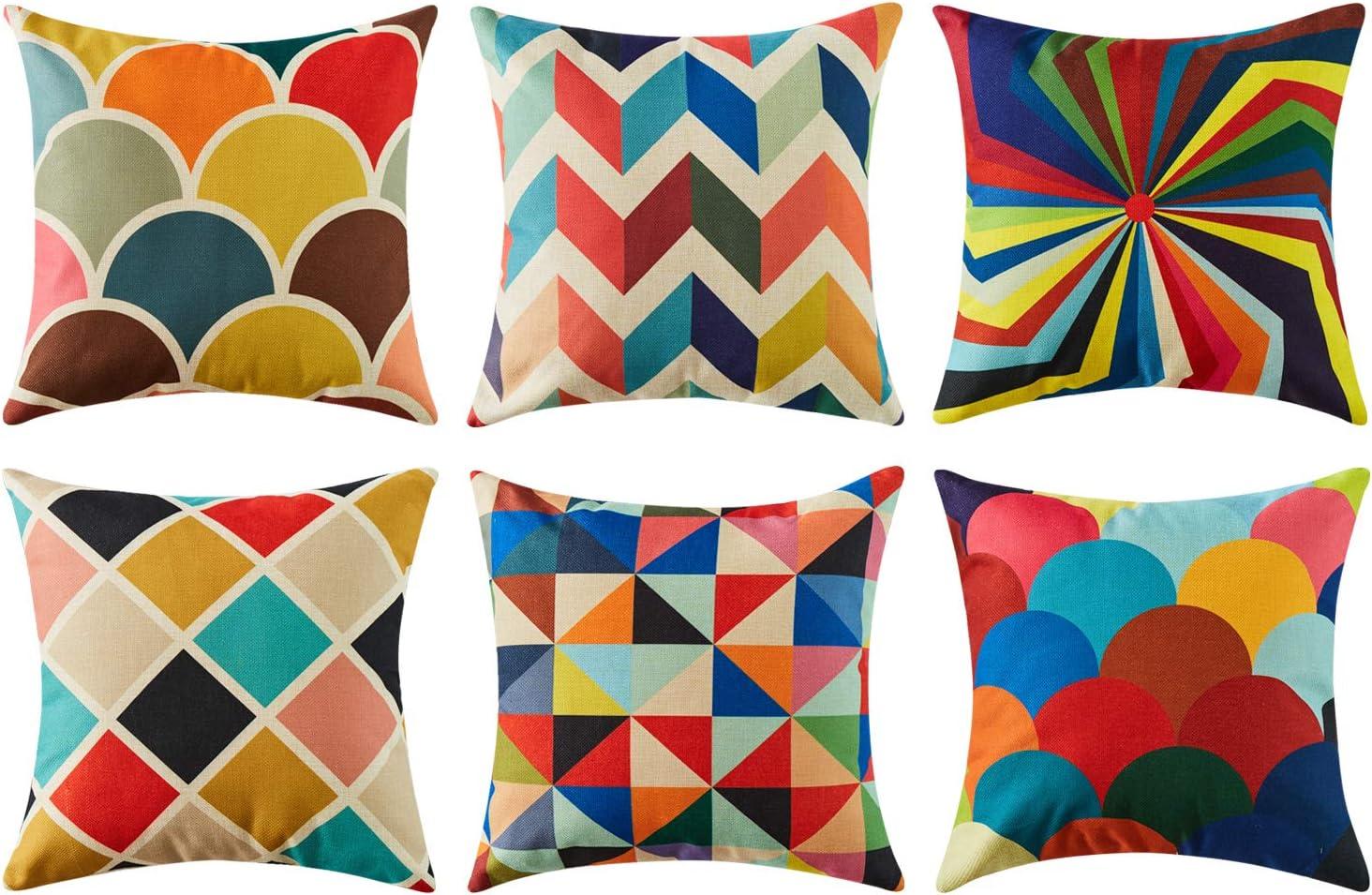 Mulitcoloured Bright Solid Colour Cushion Cover Pillow Cover Sofa Cushion Pillow