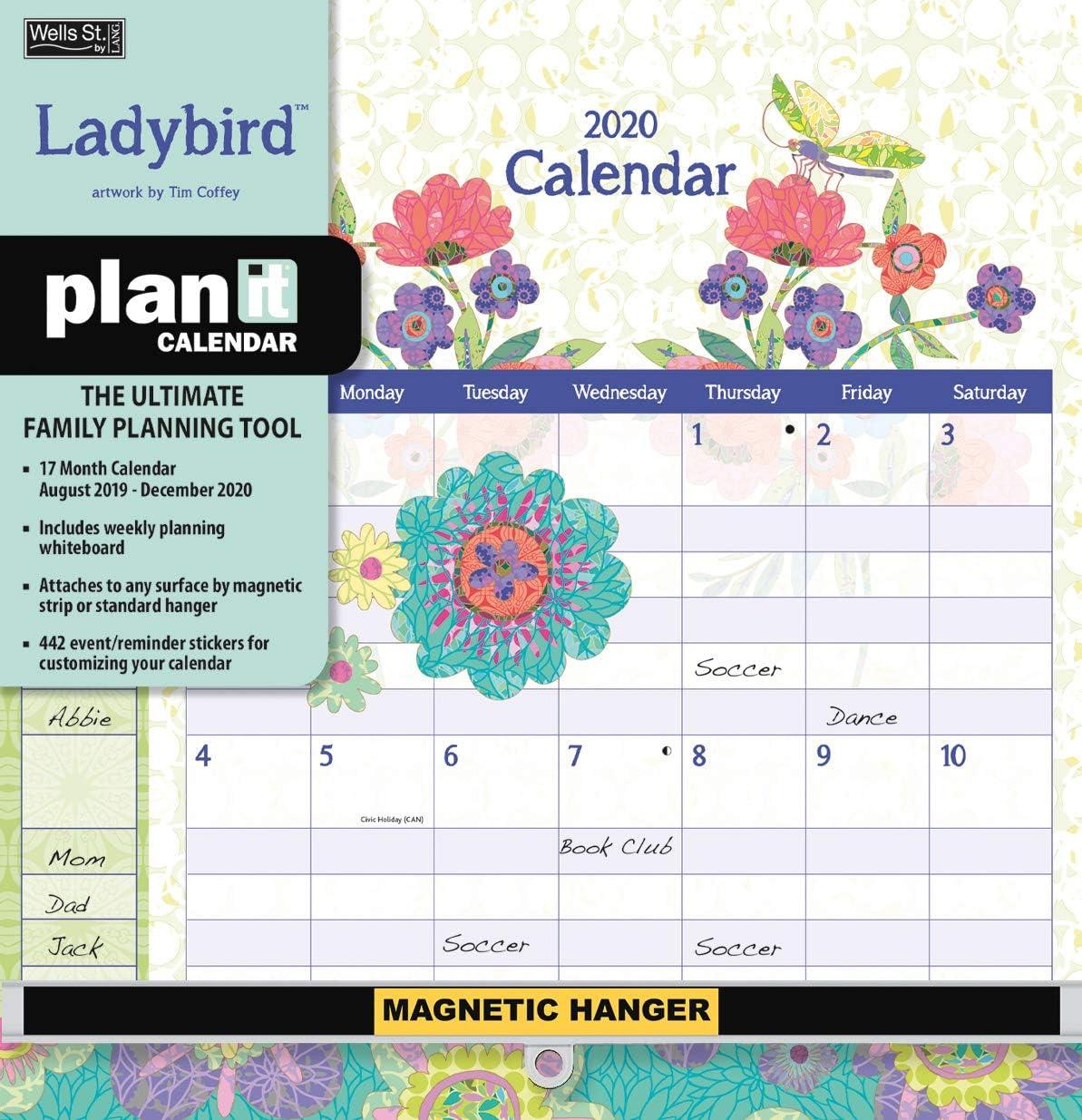 Wells Street by LANG WSBL Ladybird 2020 Plan-It Plus (20997009157) アカデミックウォールカレンダー (20997009157)