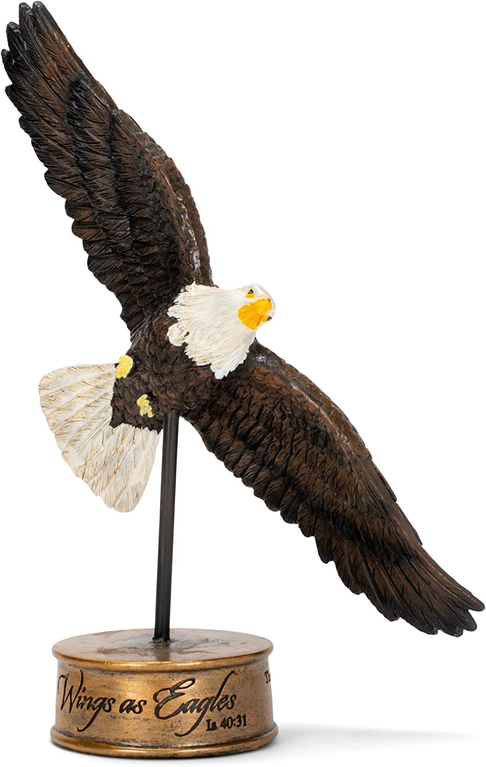 Dicksons Soaring Isaiah 40:31 Wings as Eagles 7 inch Resin Stone Table Top Figurine