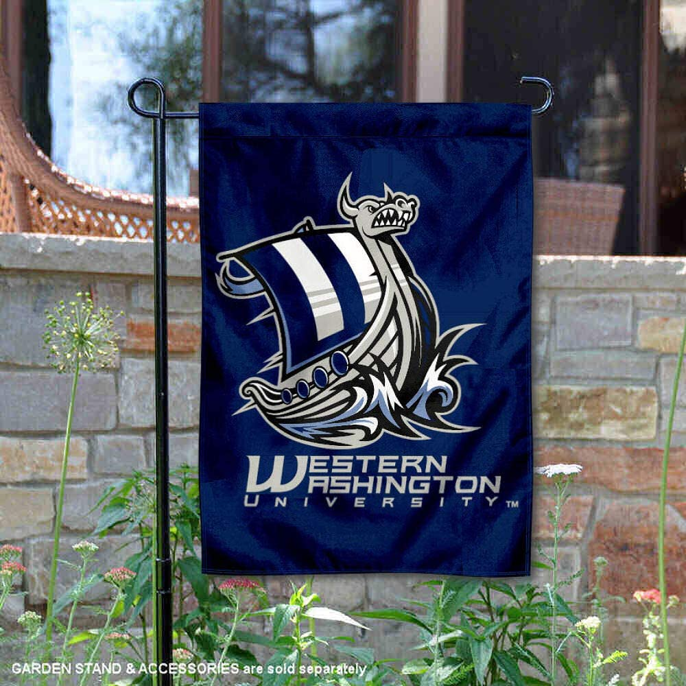 College Flags and Banners Co WWU Vikings Banner House Flag