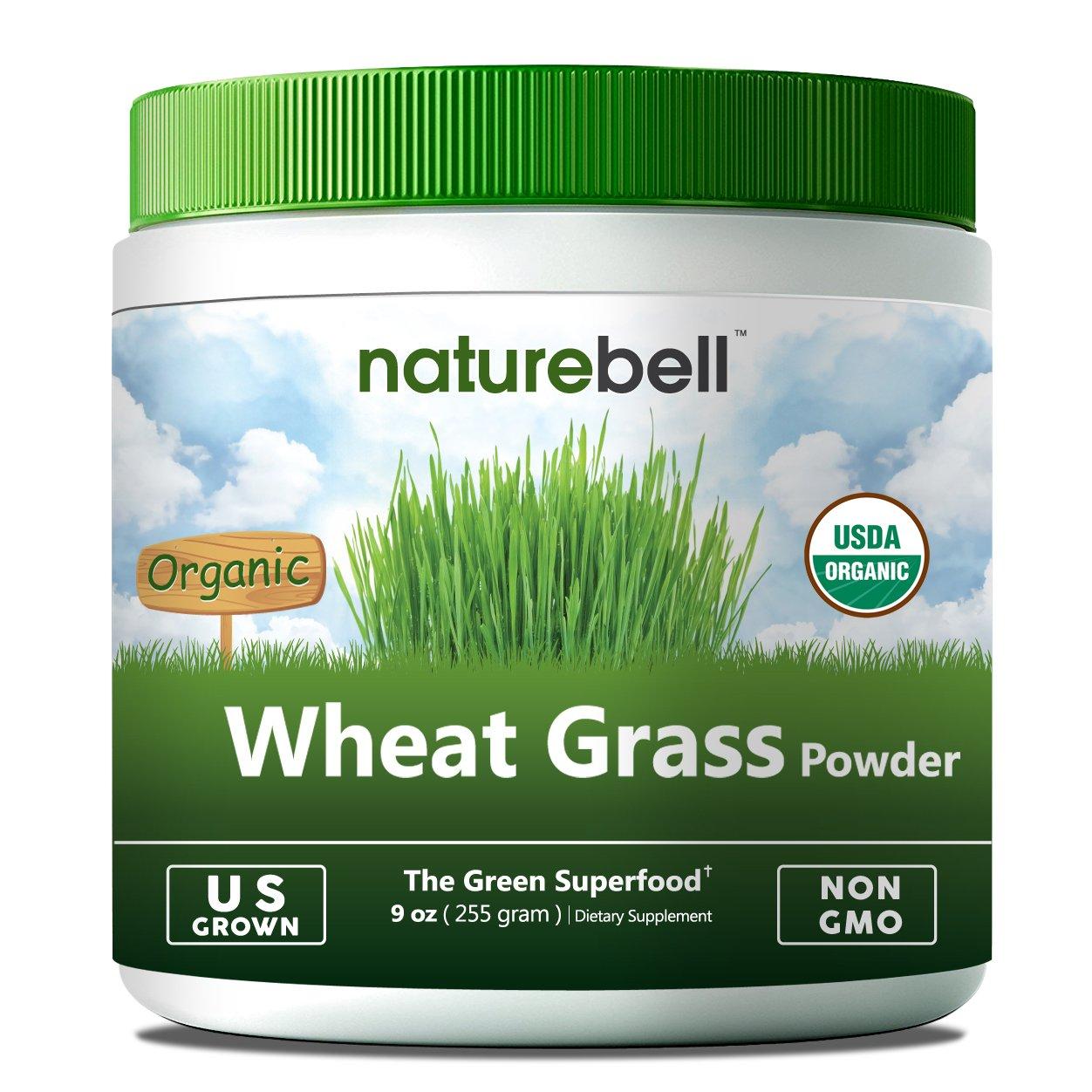 NatureBell U.S Grown Organic Wheat Grass Powder (9 oz) -85 ...