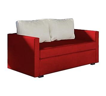 Vcm 2er Schlafsofa Sofabett Couch Bett Sofa Mit Schlaffunktion Rot