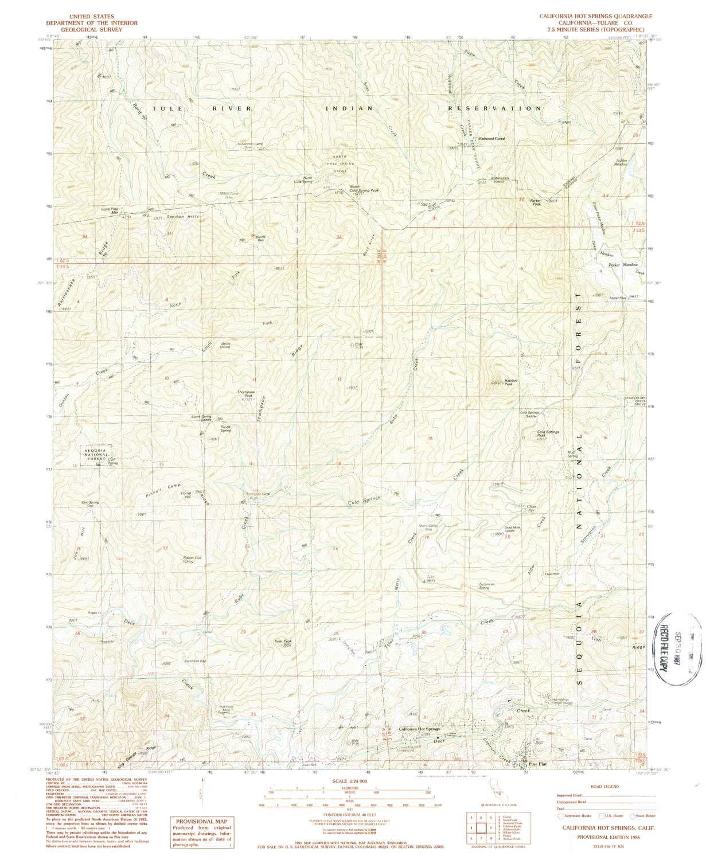 Amazon.com : YellowMaps California Hot Springs CA topo map, 1:24000 on