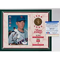 Nolan Ryan Autographed Signed Express 1994 Coin & Autograph 8 X 10 Photo PSA DNA photo