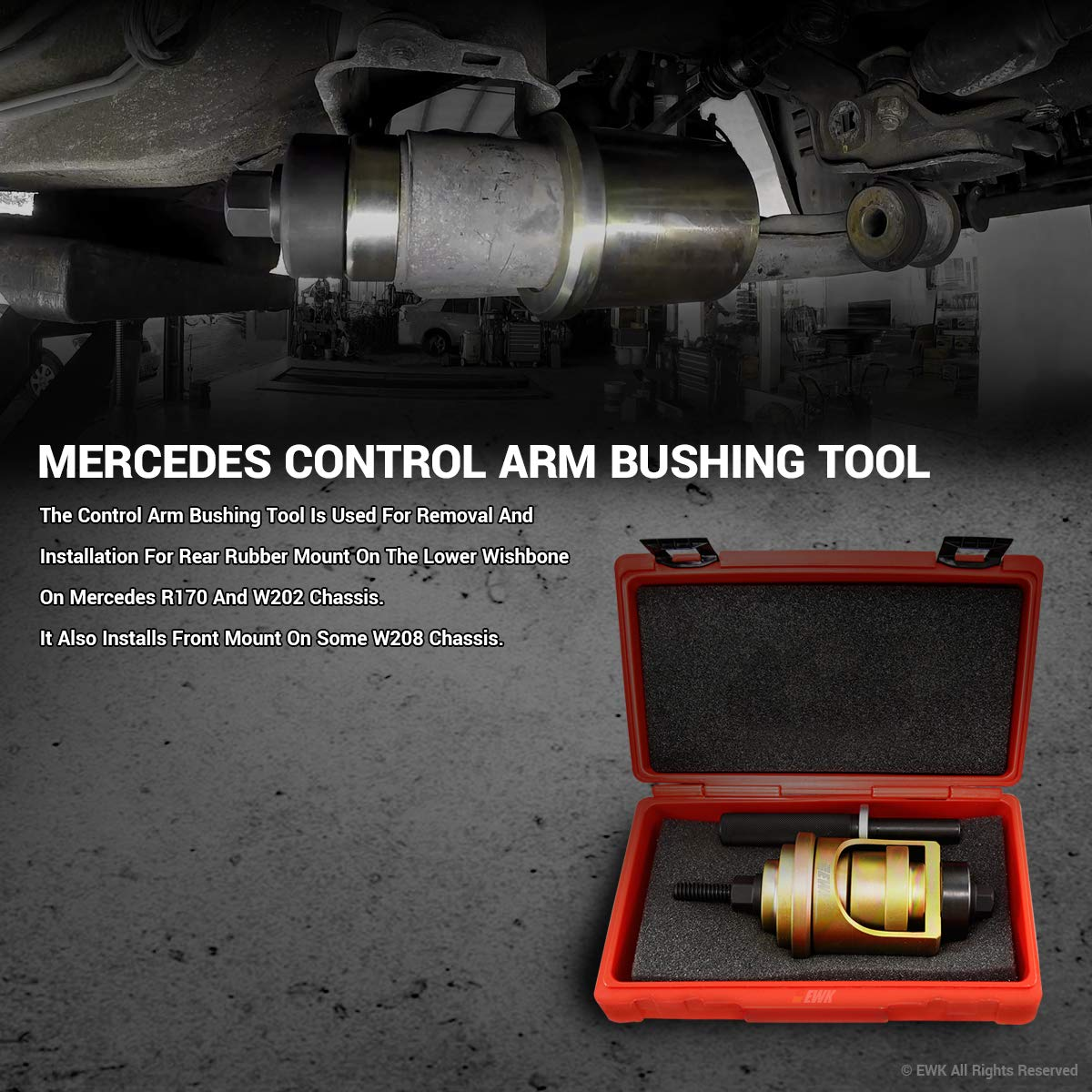 EWK Lower Control Arm Bushing Tool for Mercedes Benz W202 R170 by EWK (Image #1)