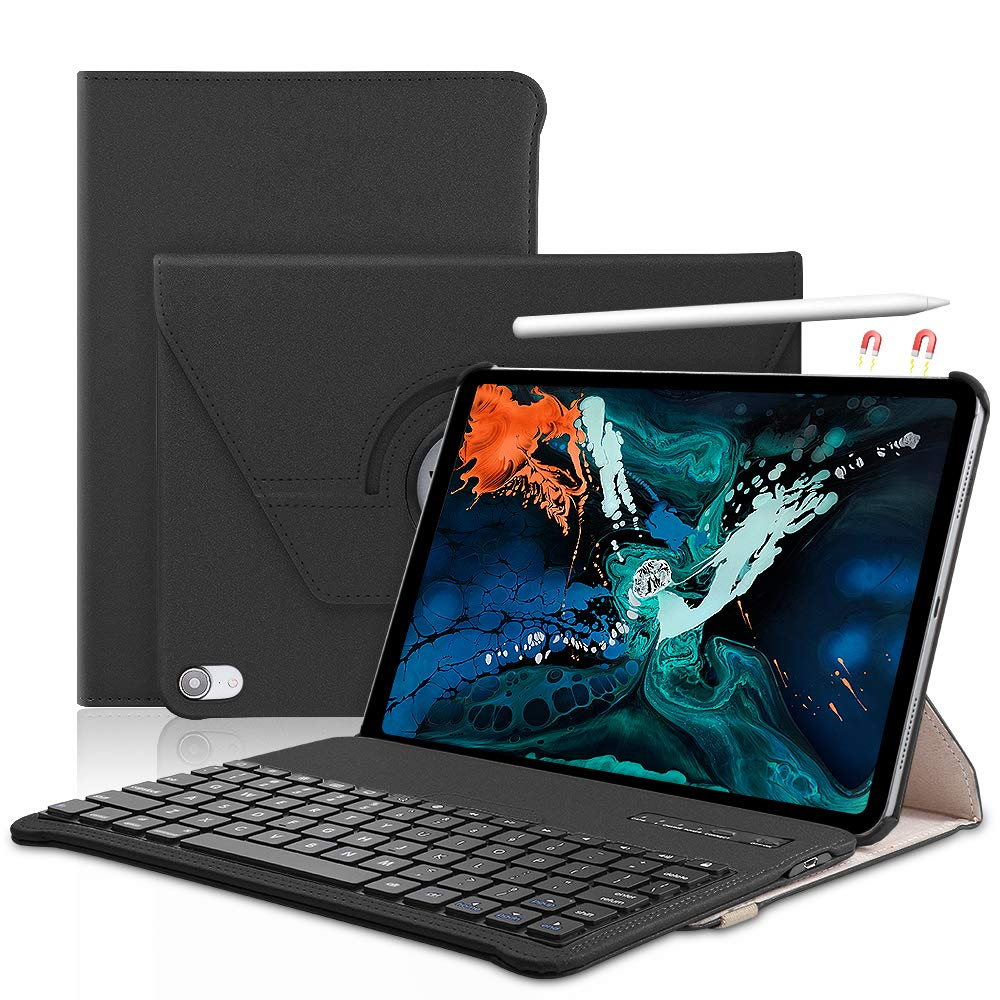 Protective iPad case with Detachable Keyboard and stylus charging capability