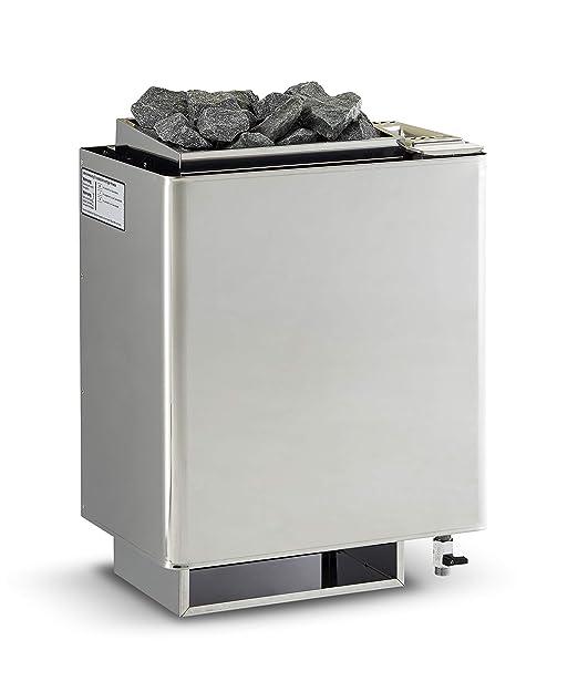 EOS Bi-O Mat W horno para sauna 9 kW acero inoxidable nevera pared ...