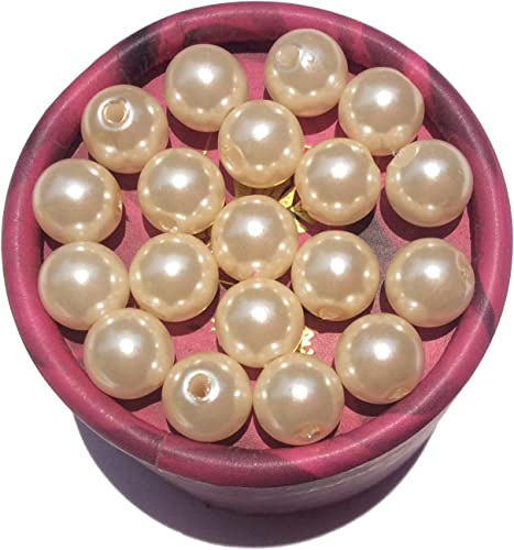 Wholesale Round ABS Imitation Pearl No Hole Loose Beads DIY Craft Jewelry Making