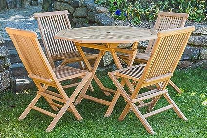 Madera de teca mesa y silla plegable Muebles de jardín ...