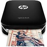 HP Sprocket Imprimante Photo portable (Bluetooth, Impression Couleur sans Encre 5 x 7,6 cm) Noir