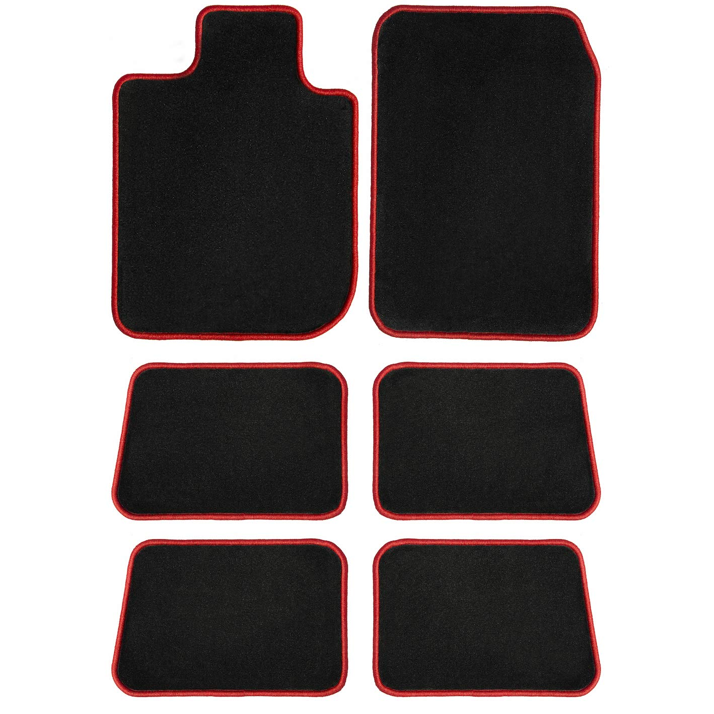 2nd /& 3rd Row 2011 GGBAILEY D3586A-LSD-BLK/_BR Custom Fit Car Mats for 2007 Passenger 2009 2012 Mazda CX-9 Black with Red Edging Driver 2008 2010 6 Piece Floor