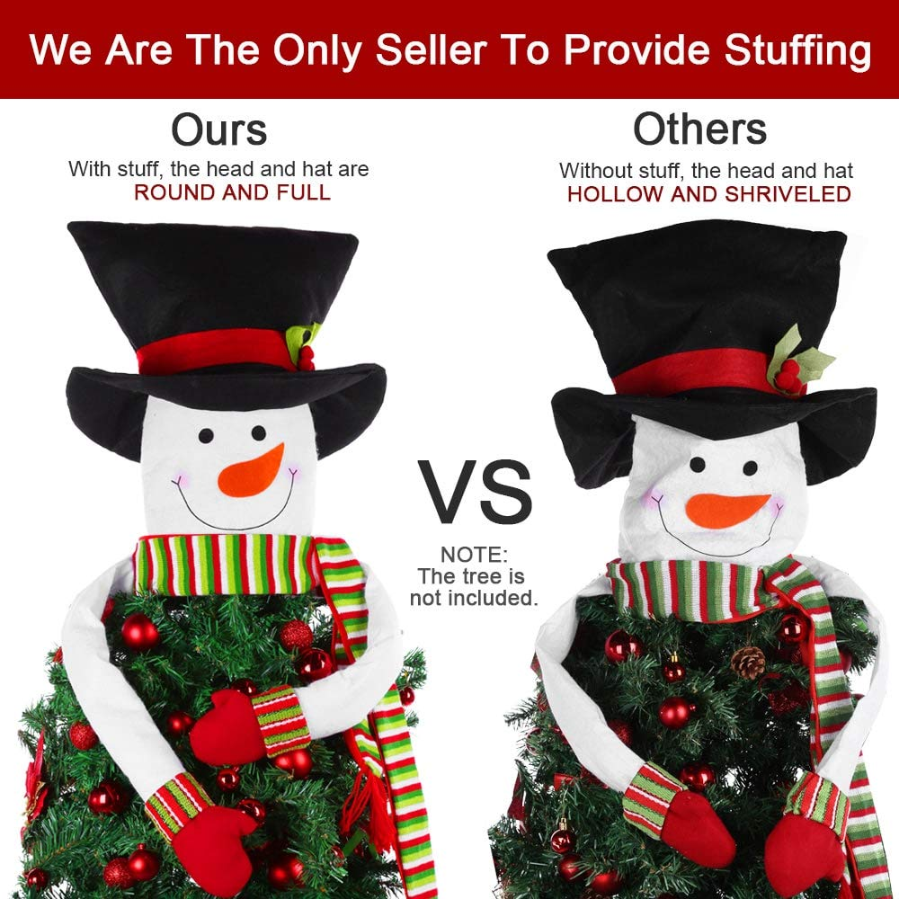 Amazon.com: HelaJoy Snowman Christmas Tree Toppers - with Free ...