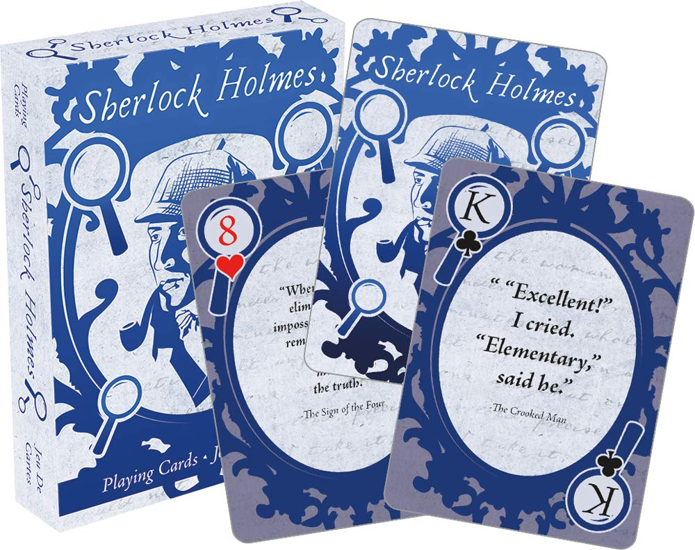 Licensed Sherlock Holmes Quotes Set Of Playing Cards (nm): Amazon ...