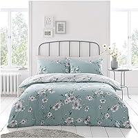 Gaveno Cavailia Premium Birdie Blossom Duvet Cover, Reversible Quilt Bedding Set, Luxury Quality, Duck-Egg, Super-King…