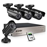 ZOSI 1080P Security Camera System with 1TB Hard