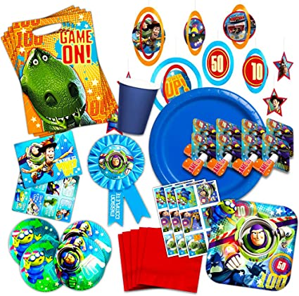 Amazon.com: Disney Toy Story Party Supplies Ultimate Set ...
