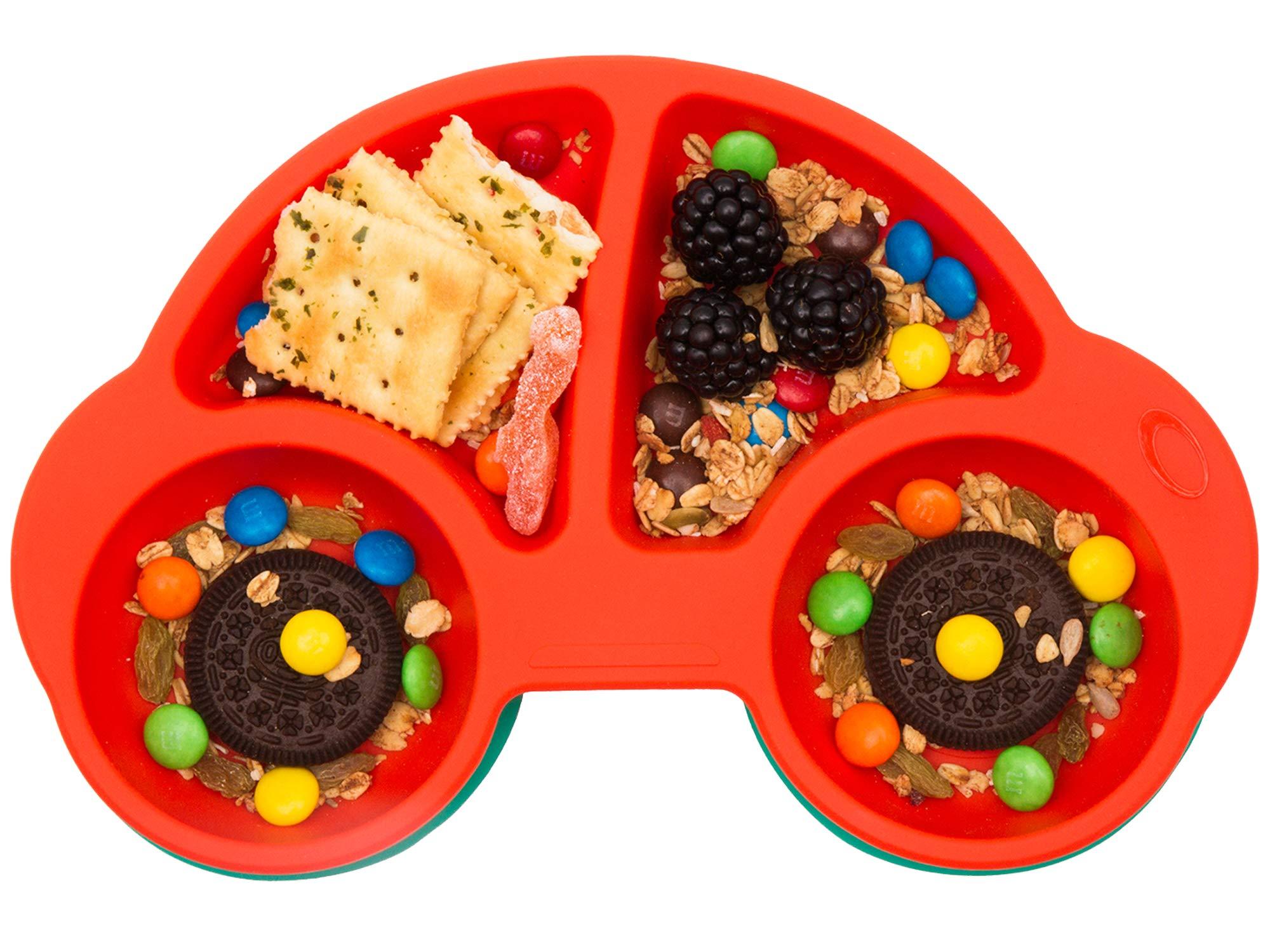 Amazon Com Qshare Toddler Plates Portable Baby Plates