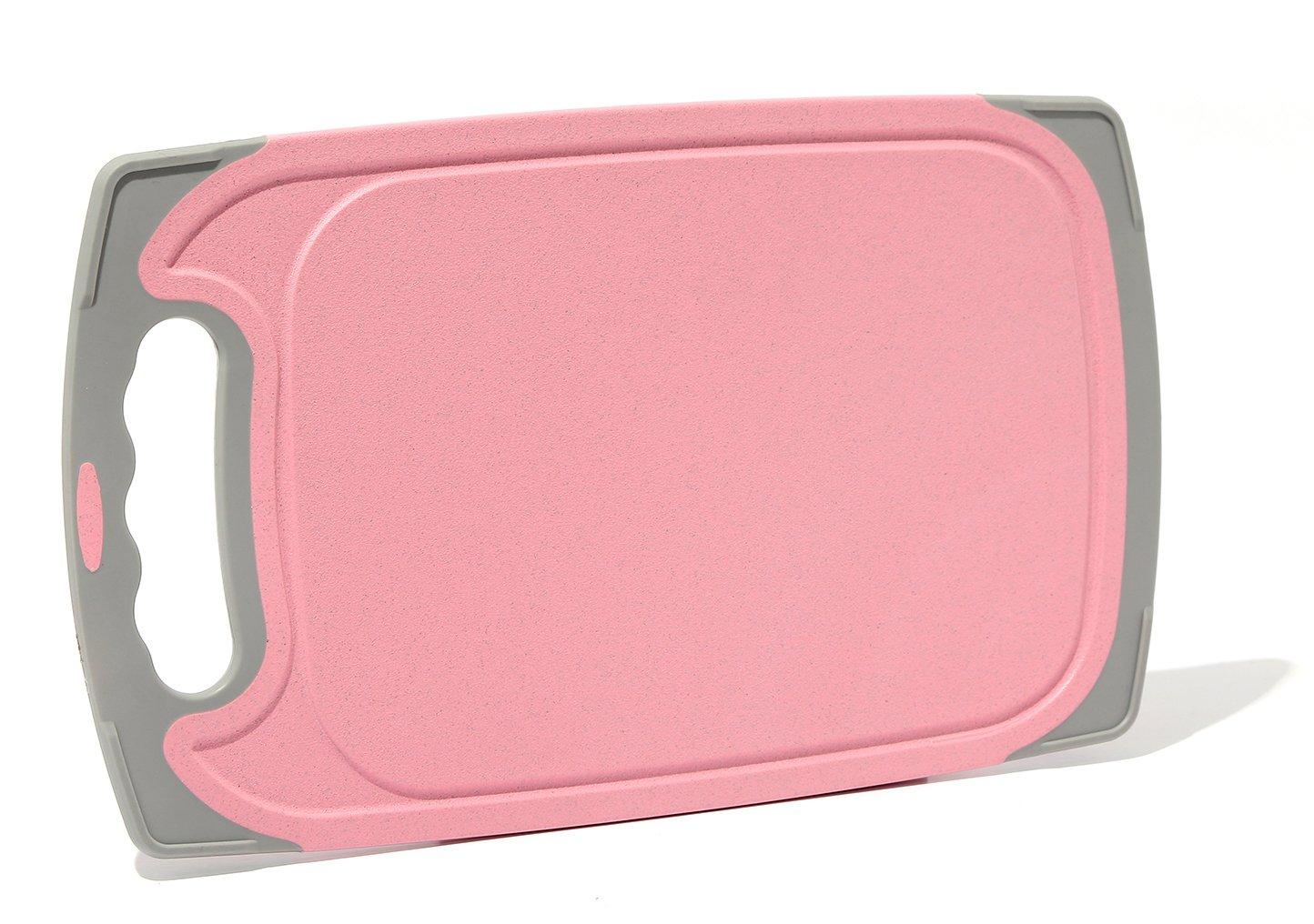 migecon Microbanカッティングボードノンスリップ抗菌まな板BPAフリーキッチンボード S ピンク MZK008-Borad-S-Pink B0753BQRSH S|ピンク ピンク S