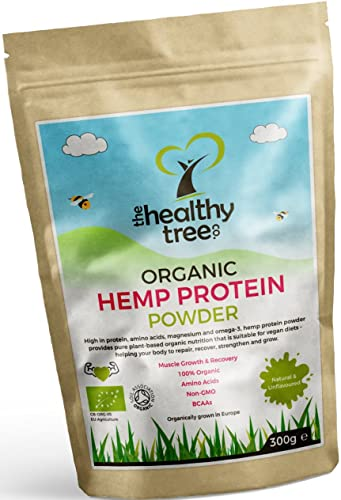 Organic Hemp Protein Powder - Harvested in Europe - High in Protein, Omega-3, Amino Acids and Magnesium - Pure Vegan Protein Powder by TheHealthyTree Company