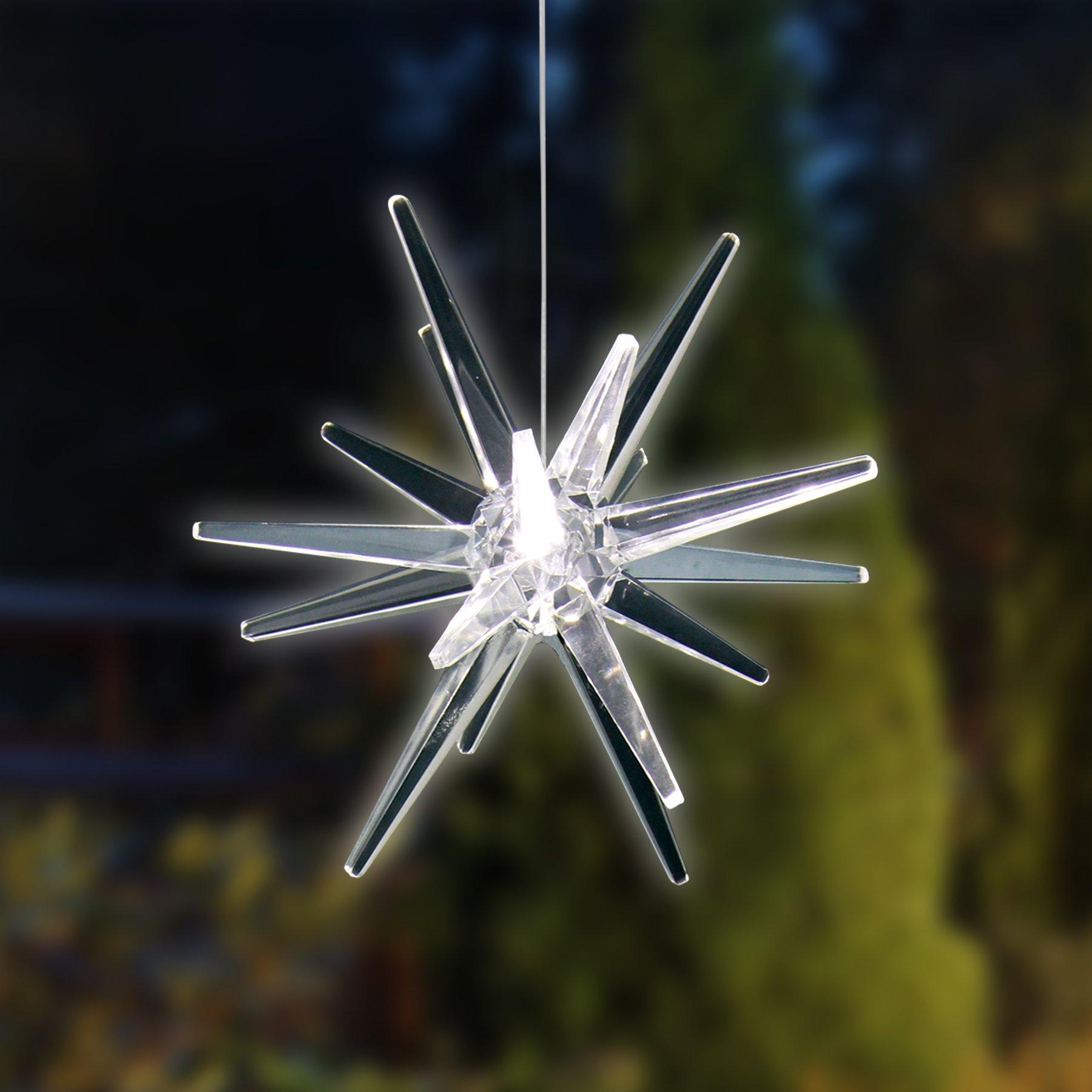 Exhart Solar Hanging White Star