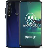 Motorola Moto G8 Plus 64GB XT2019-2 Hybrid Dual SIM GSM Unlocked Phone - Cosmic Blue (Renewed)