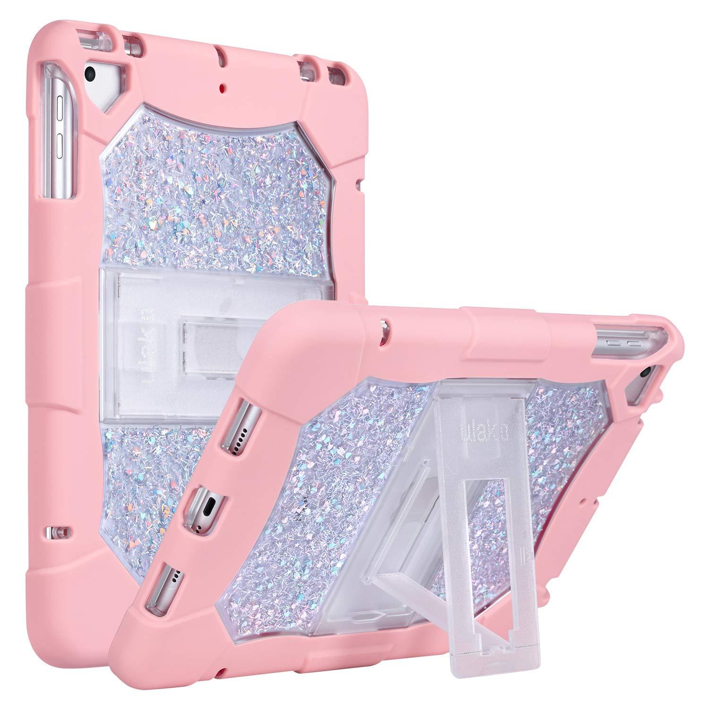 大特価!! ULAK 耐衝撃 iPad 2018/2017 ULAK Rose iPad 9.7インチケース iPad Airケース 頑丈 高耐久 耐衝撃 キッズプルーフ 保護ケース ハードPCソフトシリコン二層ハイブリッドカバー キックスタンド付き, マルチカラー Rose Gold+Rose Gold B07LBM7JK8, 安い割引:a2d3018a --- a0267596.xsph.ru