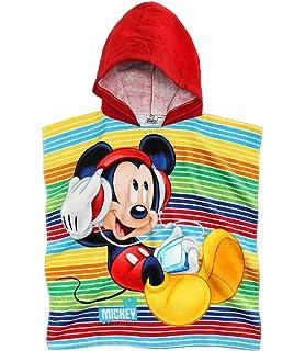 Disney Mickey Chicos Toalla poncho con capucha - Rojo