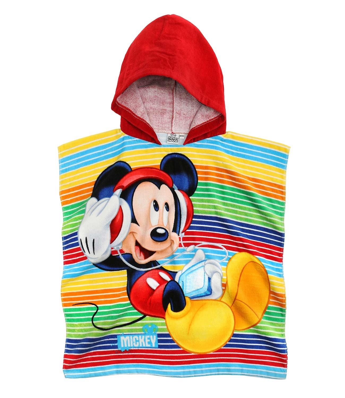 Disney Mickey Ragazzi Asciugamano poncho con cappuccio - rosso