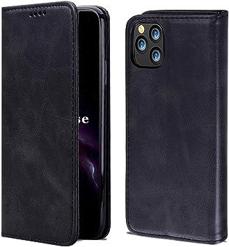 OJBKase Funda iPhone 11 Pro MAX, Premium Piel Libro Carcasa Protectora Cartera [Soporte Plegable][Ranuras para Tarjetas] para Apple iPhone 11 Pro MAX (6,5 Pulgadas) (Negro): Amazon.es: Electrónica