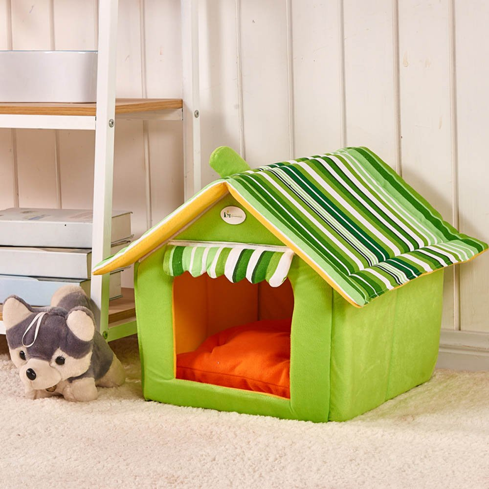 TYPE B S TYPE B S 2-in-1 Pet house and Portable Sofa Non-Slip Soft Warm Pet Kennel, Dog House Beds with Mat, Size S