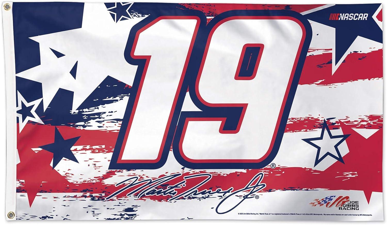 NA NASCAR Martin Truex Jr Multi WinCraft NASCAR Joe Gibbs Racing Martin Truex Jr Patriotic #19 3 X 5 Flag Deluxe