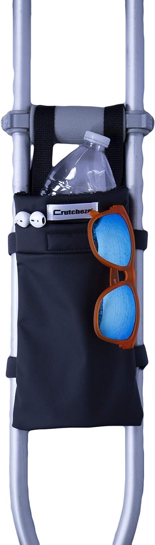 Crutcheze Black Crutch Bag Pouch Washable Tote Max 50% OFF Limited time sale Designe Pocket