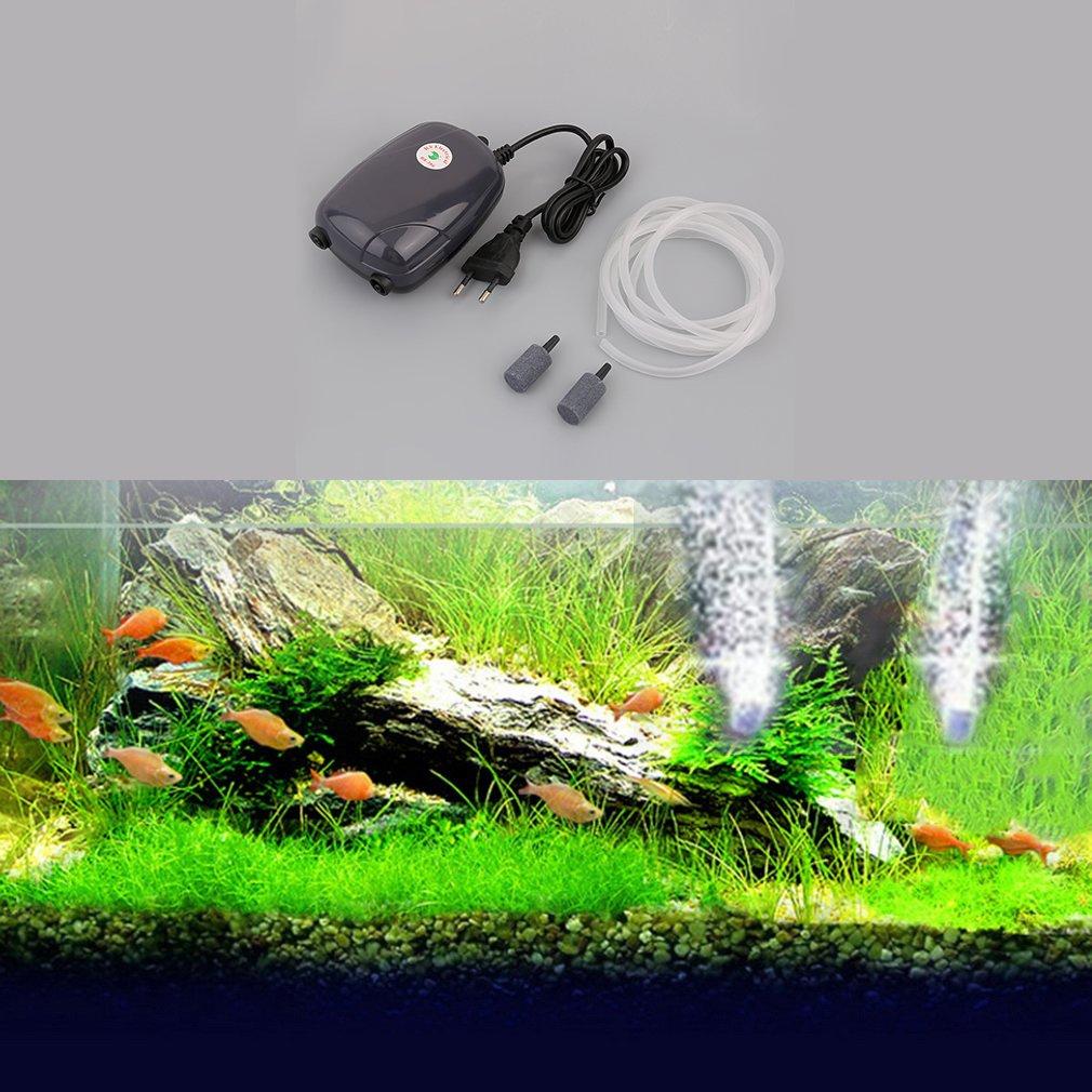 Gugutogo Pompa per acquari con Serbatoio per Pesci Pompa per Acquario con Dischi per Bolle idroponica (Colore: Nero)