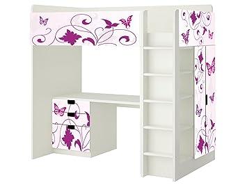 Kinderzimmer ikea hochbett  Butterfly Aufkleber - SH06 - passend für die Kinderzimmer Hochbett ...