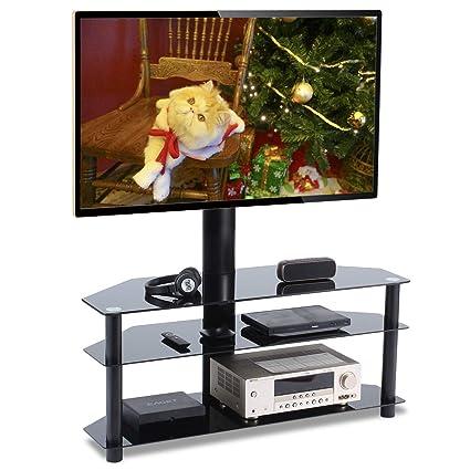 Amazoncom Universal Swivel Corner Floor Tv Stand With Mount And