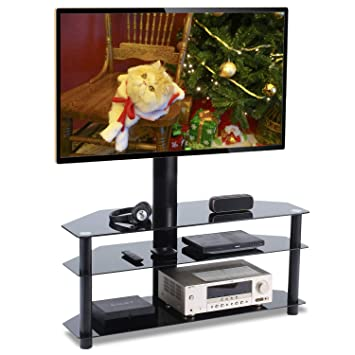 Amazon Com Universal Swivel Corner Floor Tv Stand With Mount And