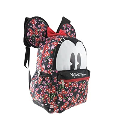"2018 Licensed Disney Minnie Mouse 16"" 3-D Style School Backpack"