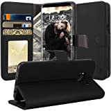 Galaxy S8 Case, TAURI [Stand Feature] Wallet Leather Case with Card Pockets Protective Flip Cover For Samsung Galaxy S8 - Black