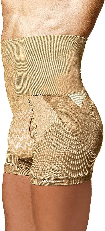 TJC SANKOM Patent Body Back-Brace Men Aloe Vera Fibers Shapers Shorts Size XL//XXL Beige Colour