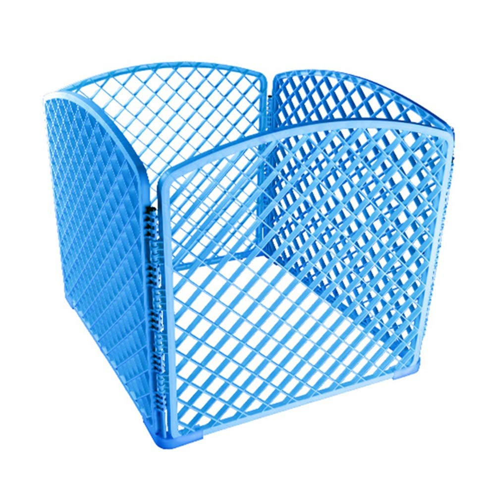 bluee Indoor Dog Fence Pet Cage, Portable Pet Playpen Animal Fence, Exercise Cage 4 Panel (color   bluee)
