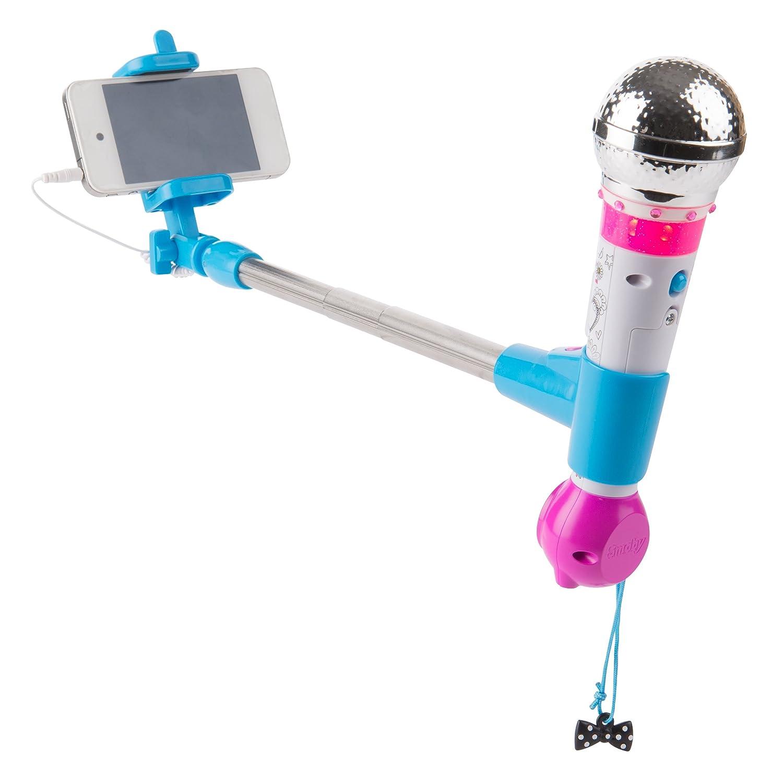 Smoby - 520117 - Maggie & Bianca Selfie Micro - Perche et Support Portable Ré glable - Chansons - Effets Sonores et Lumineux - Piles Incluses - + 20 Bijoux Adhé sifs Smoby toys 7600520117