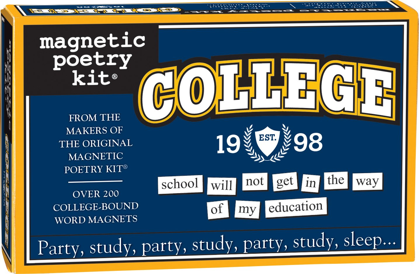 Magnetic Poetry - College Kit - Words for Refrigerator - Write Poems and Letters on The Fridge - Made in The USA