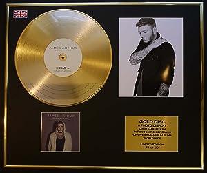 GOLD RECORD James Arthur - Disco, Grabador y Foto, Color Dorado EDITIONCOA/Back from The Edge