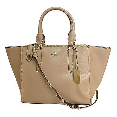 e6812ddf14ff2 ... discount coach crossgrain leather cross body bag 33995 nude 617fd 99500  ...