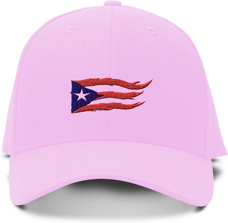 Custom Baseball Cap Puerto Rico Flag Sol Taino A Embroidery Acrylic