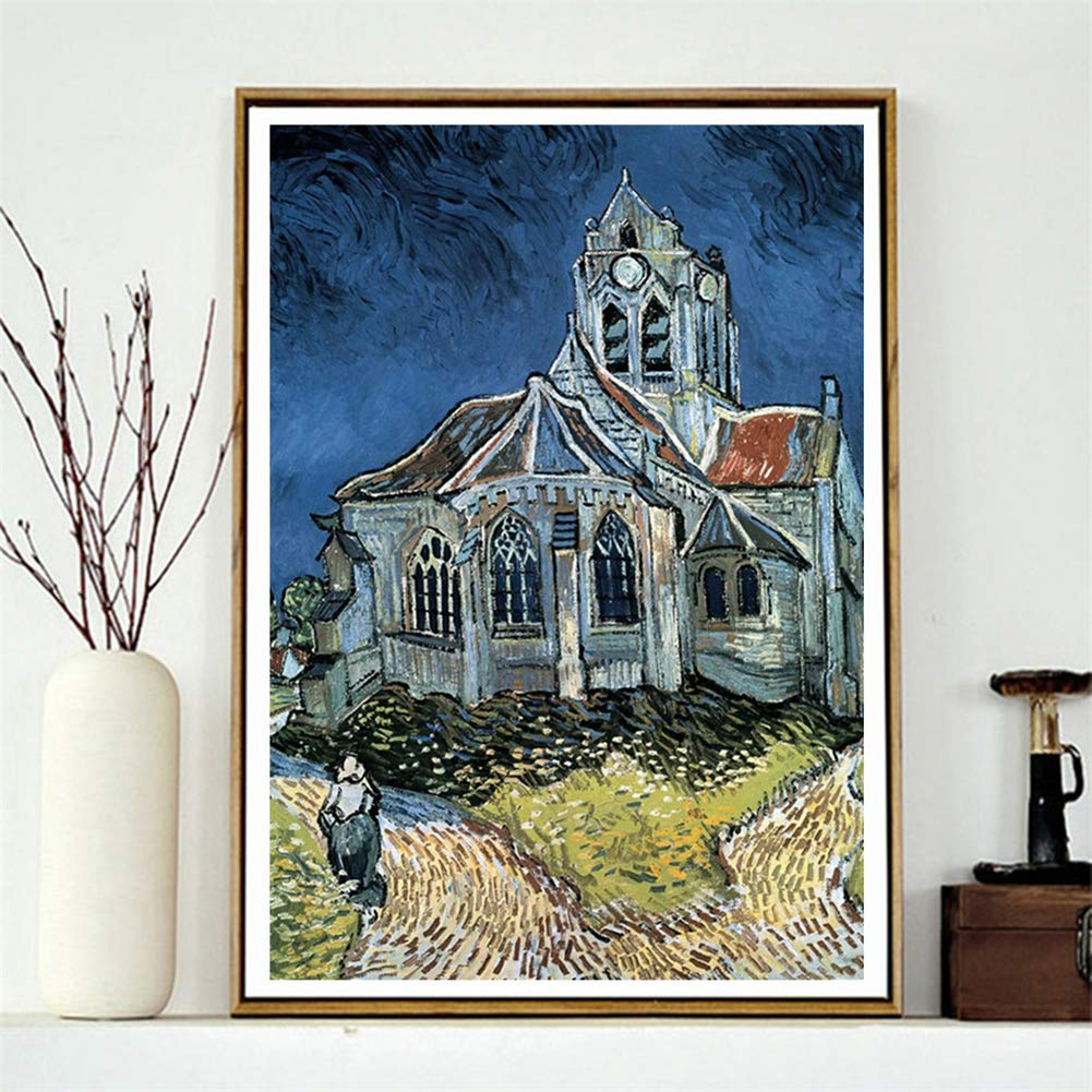 5D Diamond Painting feilin Full Round Drill Castle Diamond Painting Kit DIY Diamond Rhinestone Painting Kits for Adults and Beginner Embroidery Arts Craft Home Decor 30x40cm