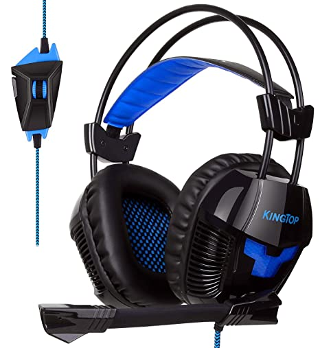 Amazon.com  Kingtop Computer Gaming Headset for PS4 97a2678b454c