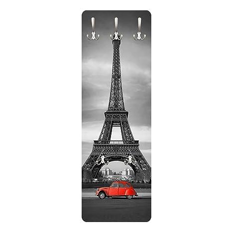 WTD Spot on Paris - Perchero de Pared (Madera MDF, diseño ...