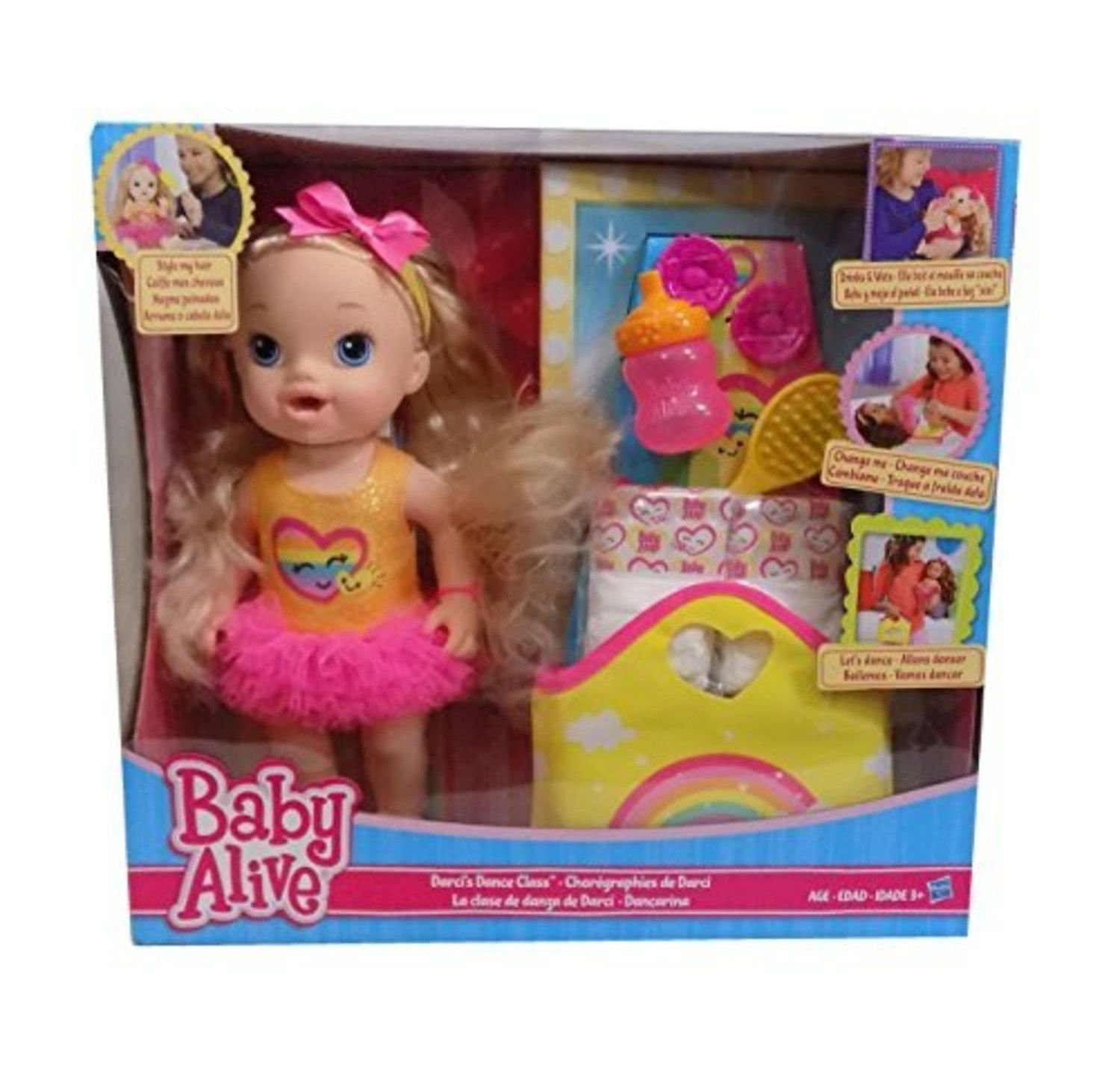 Baby Alive Darcis Dance Class Blonde Hair Doll by Baby Alive
